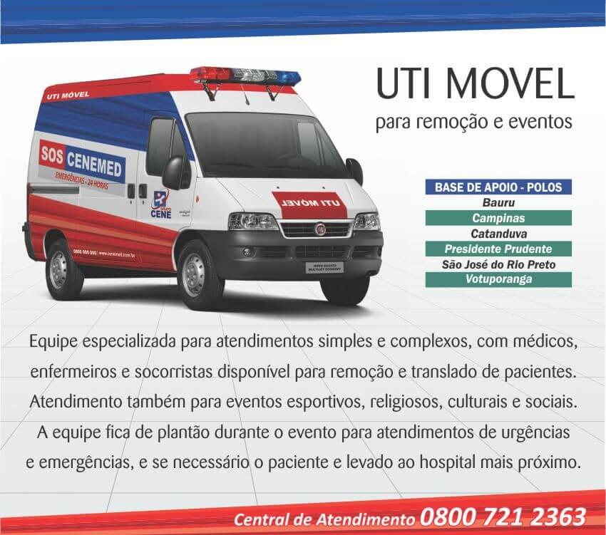 UTI móvel - ambulância para remoção