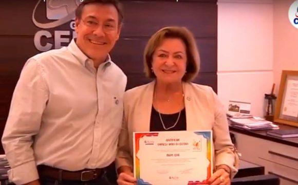 Grupo Cene recebe selo Empresa Amiga da Cultura