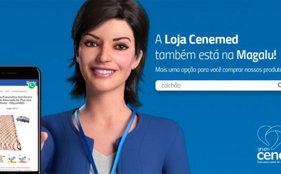 Produtos do ecommerce da Loja Cenemed também estão na Magalu
